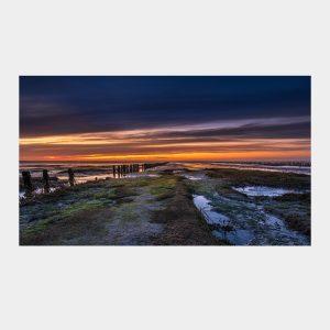 Efter solnedgang ved Mandø Ebbevej