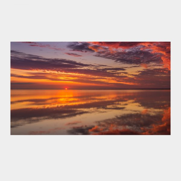 Flotte skyer som spejl ved Mandø Ebbevej