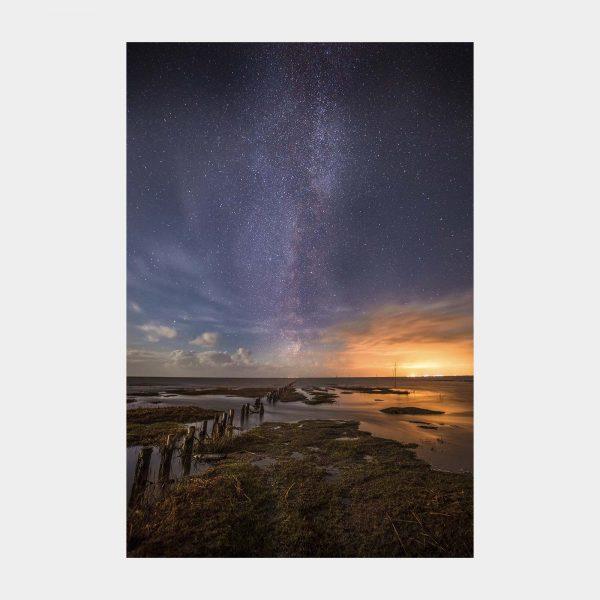 Stjerner og mælkevejen over Mandø Ebbevej